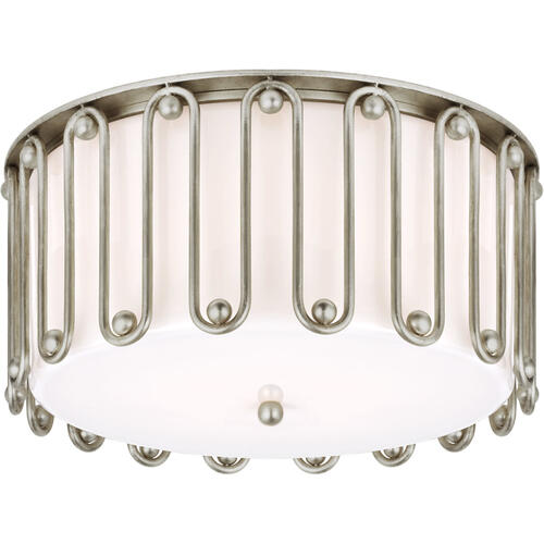 AERIN Molene 4 Light 18 inch Burnished Silver Leaf Flush Mount Ceiling Light, Large