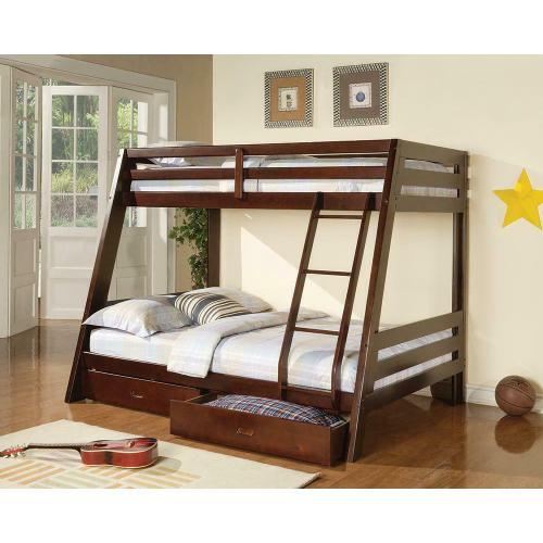 Coaster - Hawkins Cappuccino Twin Over Full Bunk Bed