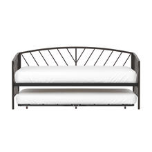 Essex Twin Metal Daybed With Rollout Trundle, Gray Bronze