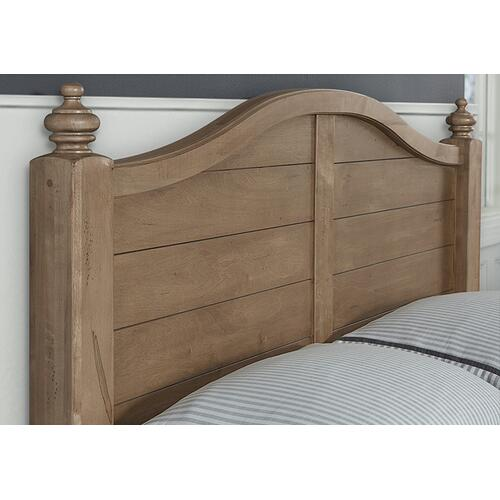 "Post Arched Bed with Post Plank Footboard and ""Antique"" Rails"