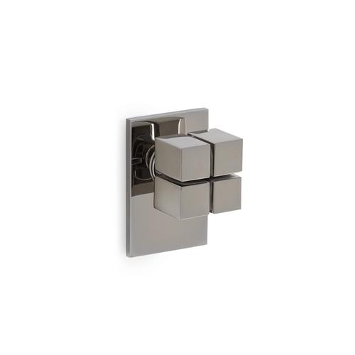 English Silver Quad Door Knob