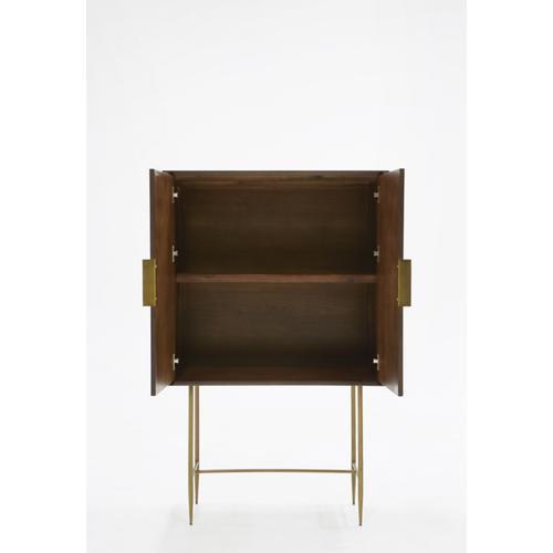 VIG Furniture - Modrest Selena Modern Acacia & Brass Chest