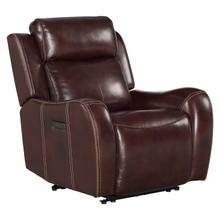 Wainwright Dual-Power Recliner  Reddish Brown