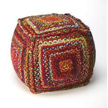See Details - This Pouf is a wonderful way to add a little bit of extra seating without limiting your walking space and openness of your living room. Place this Pouf next to your sofa or near the family club chair and always have a stylish place to put your feet. Place two or three with your sofa table for extra eating space for the little ones in your family room.