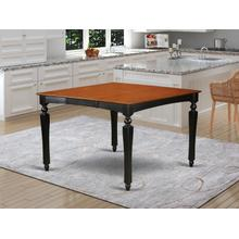 """Chelsea Gathering 54"""" square counter height dining table with 18"""" butterfly leaf in Black Finish"""