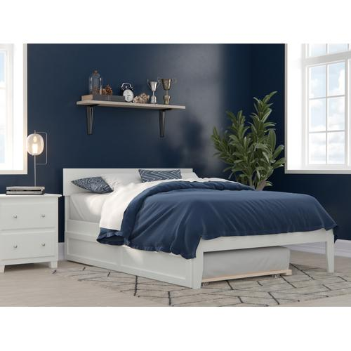 Atlantic Furniture - Boston Full Bed with Twin Trundle in White