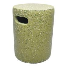 Pillar Cement Stool Green
