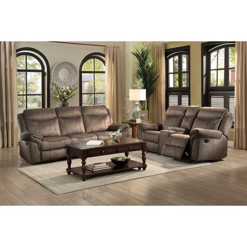 Gallery - Double Glider Reclining Love Seat with Center Console, Receptacles and USB Ports