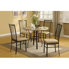 ACME Darell 5Pc Pack Dining Set - 70295 - Faux Marble & Microfiber