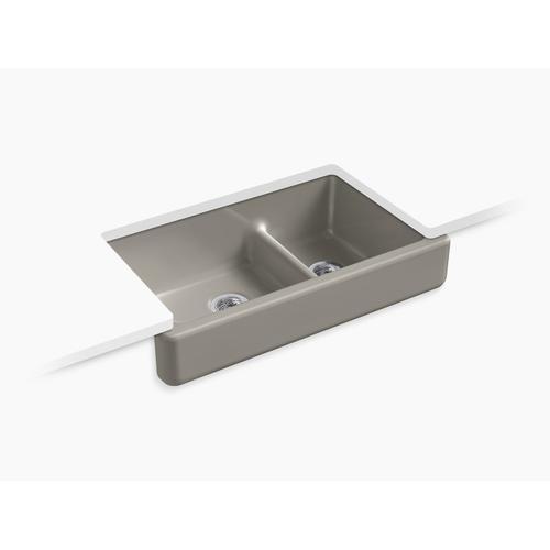 """Cashmere 35-1/2"""" X 21-9/16"""" X 9-5/8"""" Smart Divide Undermount Double-bowl Large/medium Farmhouse Kitchen Sink"""