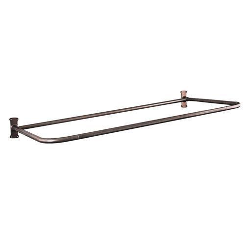 "26"" ""D"" Shower Rod - 48"" x 26"" / Oil Rubbed Bronze"