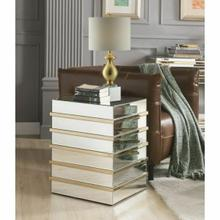 ACME Osma End Table - 80332 - Mirrored & Gold