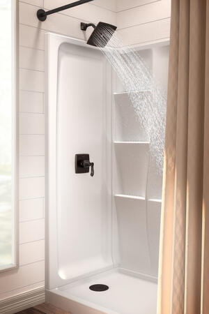 "High Gloss White 60"" x 32"" Shower Base - Left Drain Product Image"