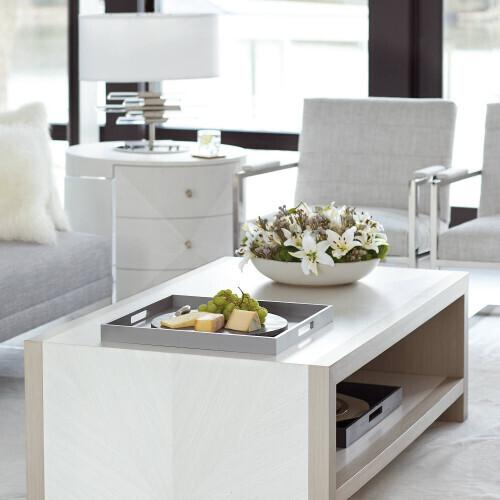 Bernhardt - Axiom Cocktail Table in Linear Gray (381)