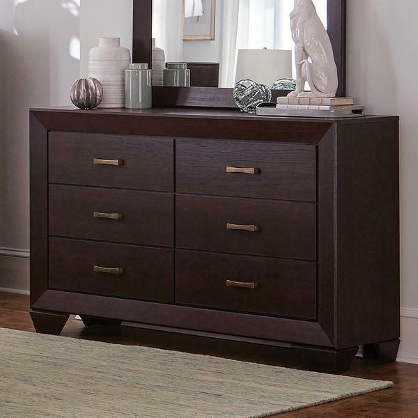 See Details - Fenbrook Dark Cocoa Six-drawer Dresser