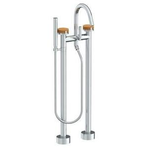 Floor Standing Bath Set With Slim Hand Shower Product Image