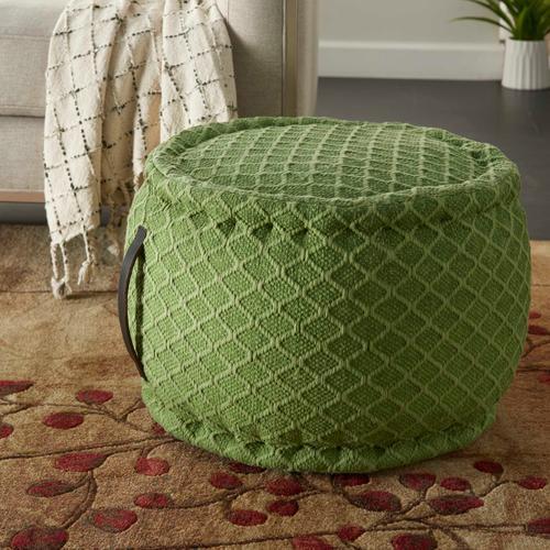 """Outdoor Pillow As696 Green 20"""" X 20"""" X 12"""" Pouf"""