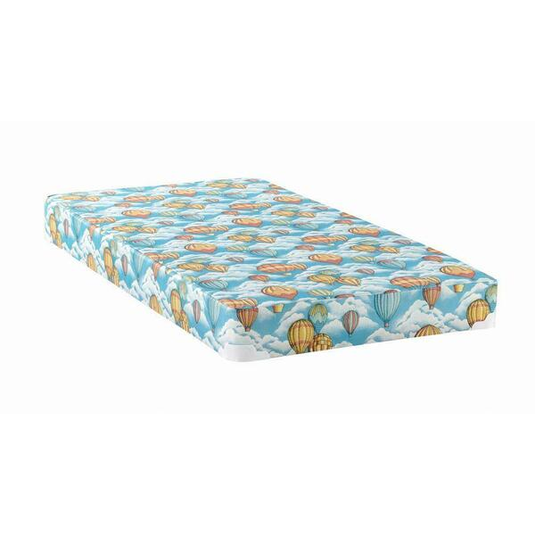 See Details - Balloon Blue Patterned Twin Mattress