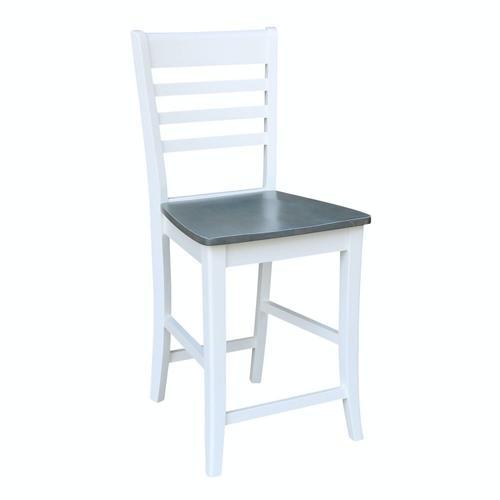 John Thomas Furniture - Roma Stool in Heather Gray & White