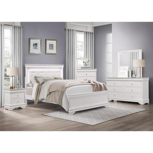 Homelegance - Twin Bed with LED Lighting