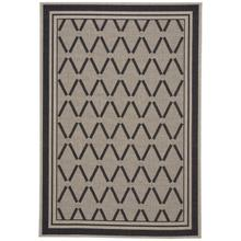 Finesse-Lattice Noir Machine Woven Rugs