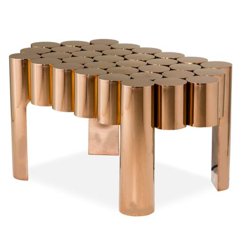 End Table - Rose Gold