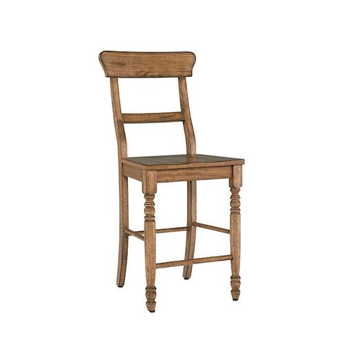 Counter Chair- 2/CTN- Antique Oak - Antique White Finish