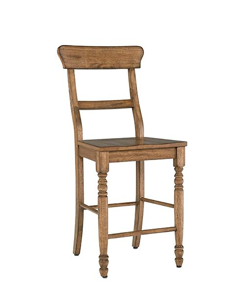 Counter Chair- 2/CTN- Antique Oak - Antique White Finish