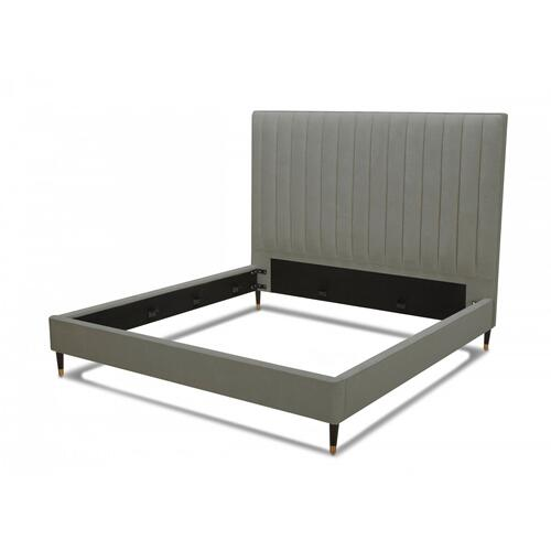 VIG Furniture - Modrest Hemlock - Modern Grey Velvet Bed
