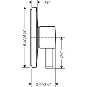 Brushed Nickel Pressure Balance Trim