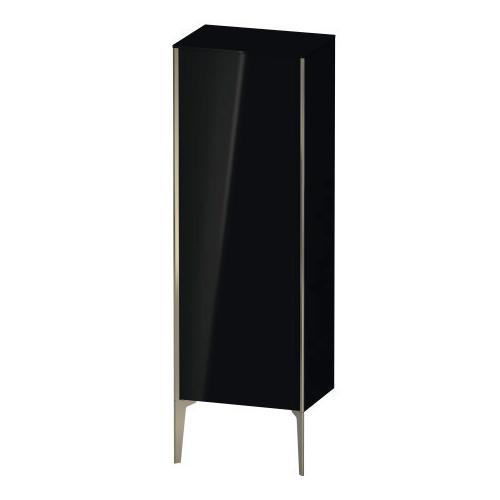 Semi-tall Cabinet Floorstanding, Black High Gloss (lacquer)
