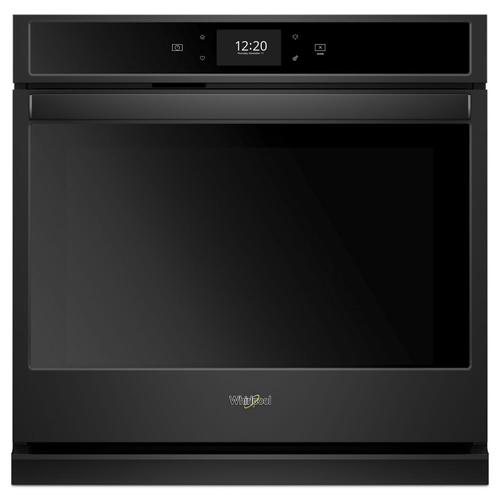 Whirlpool - 4.3 cu. ft. Smart Single Wall Oven with True Convection Cooking Black