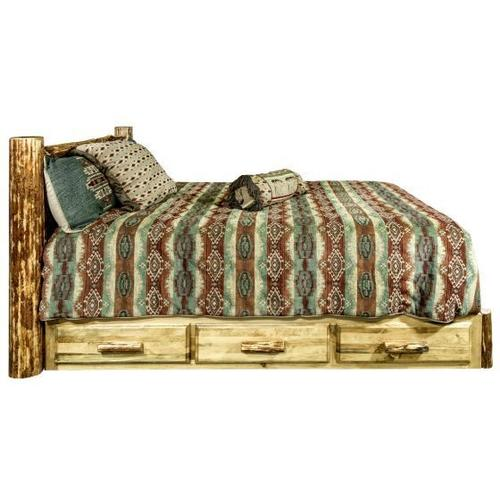 Montana Woodworks - Glacier Country Collection Platform Beds with Storage