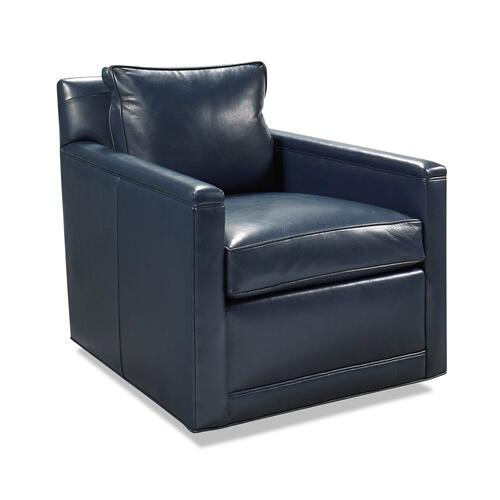Classic Home - Clark Swivel Accent Chair Indigo