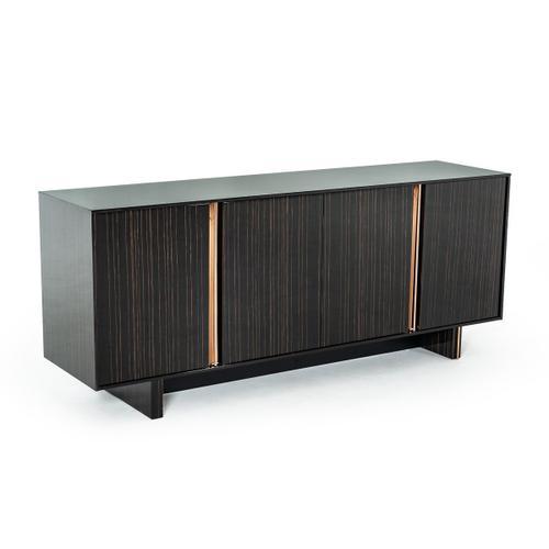 VIG Furniture - Modrest Chadwick Modern Ebony & Rosegold Buffet