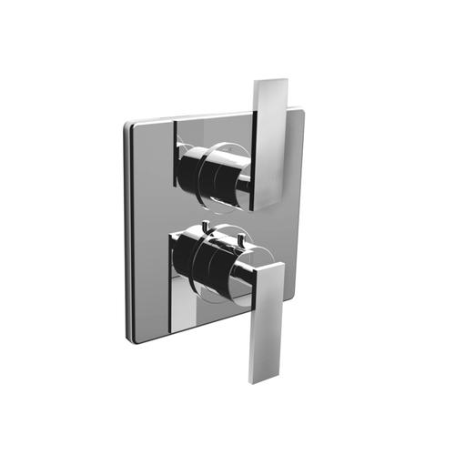 "7095em-tm - 1/2"" Thermostatic Trim With Volume Control in Matte Black"