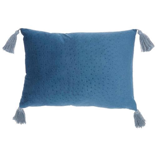 "Life Styles Et093 Navy 14"" X 20"" Throw Pillow"