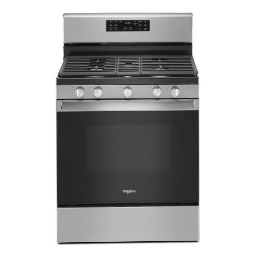 Whirlpool - 5.0 cu. ft. gas convection oven with fan convection cooking