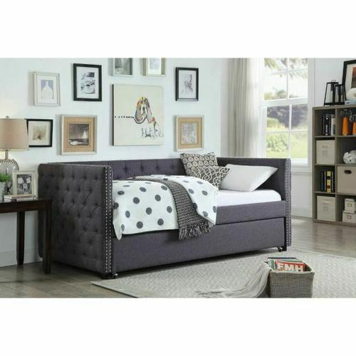 ACME Romona Daybed & Trundle - 39055 - Gray Linen