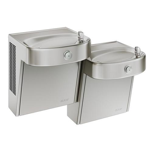 Product Image - Elkay Cooler Wall Mount Bi-Level ADA Non-Filtered, Non-Refrigerated Stainless