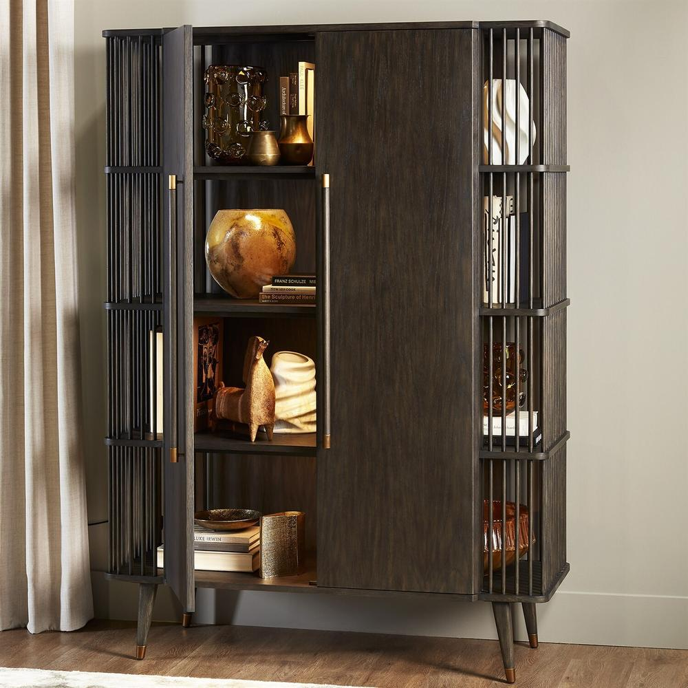 See Details - Arbor Tall Cabinet-Smoke