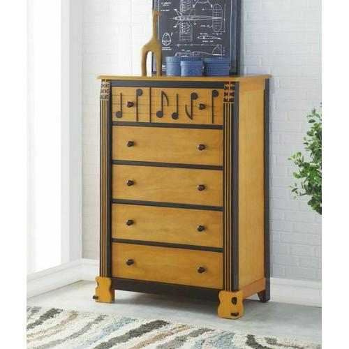 ACME Petrus Chest - 37714 - Honey Oak & Espresso