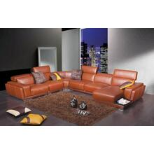 Divani Casa 2996 - Modern Orange Leather Sectional Sofa