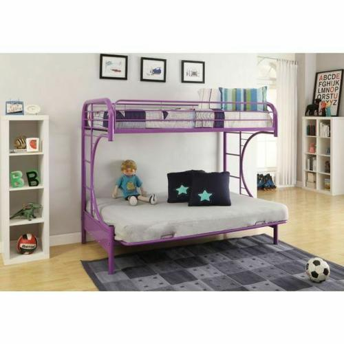 ACME Eclipse Twin/Full/Futon Bunk Bed - 02091W-PU - Purple