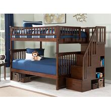 View Product - Columbia Staircase Bunk Bed Full over Full in Walnut
