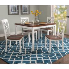 Harrison Cherry and White 5pc Dining Set