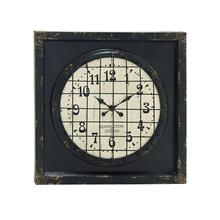 "MTL WD WALL CLOCK 39""W, 39""H"