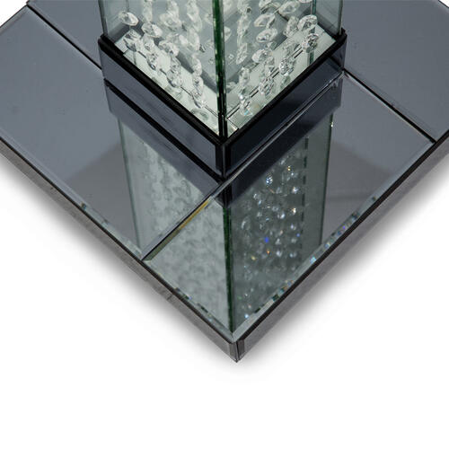 Amini - Slender Floor Lamp W/rectangular Lamp Shade Gray (2pc)