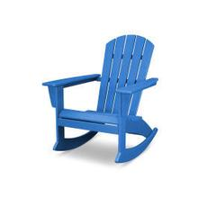 View Product - Nautical Adirondack Rocking Chair in Vintage Pacific Blue