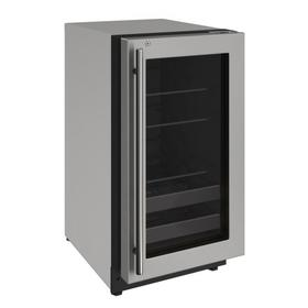 """2218bev 18"""" Beverage Center With Stainless Frame Finish and Right-hand Hinge Door Swing (115 V/60 Hz Volts /60 Hz Hz)"""